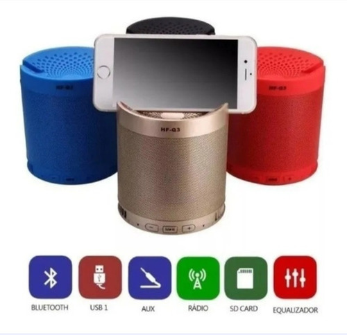 Caixa De Som Bluetooth  Tablet  Caixinha Wireless Mp3 Usb