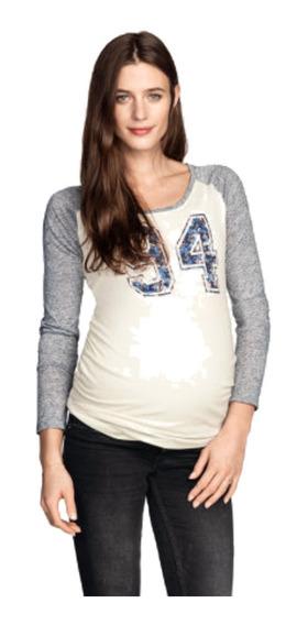 H&m Hm Hym Remera Embarazada Original Modelo Mama