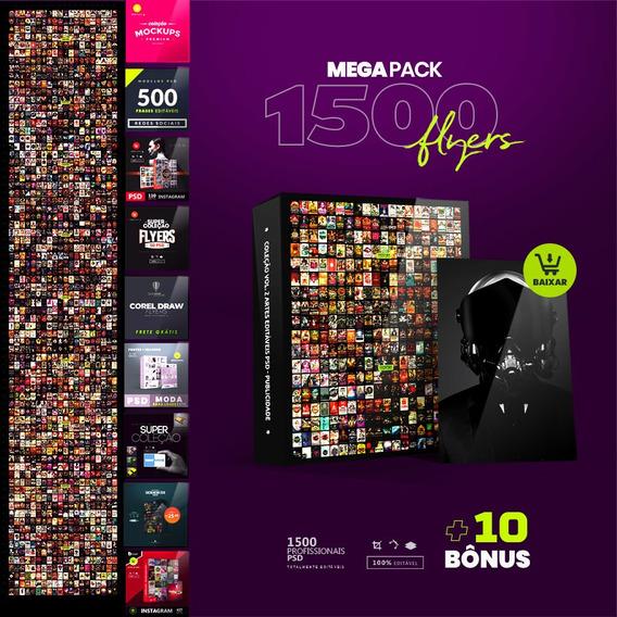Mega Collection 1500 Editáveis + 10 Brindes Coleção Psd