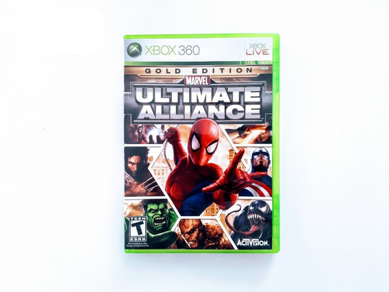 Marvel Ultimate Alliance Gold Edition - Xbox 360 Raro 12x