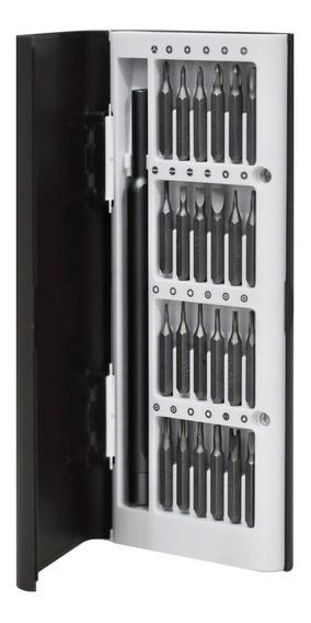 Kit Desarmadores 24 En 1 Caja Aluminio Imantados Bk 3338