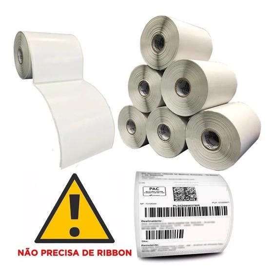 4000 Etiqueta 10x15 Cm Térmica Serrilha Mercado Envios