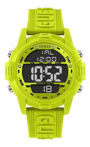 Reloj Para Hombre Guess Charge Color Verde Gw0050g2