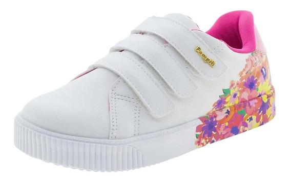 Tênis Infantil Feminino Pampili - 435006 Branco/rosa
