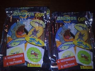 10 Sobres Cerrados De Digimon Caps 02 Panini Originales