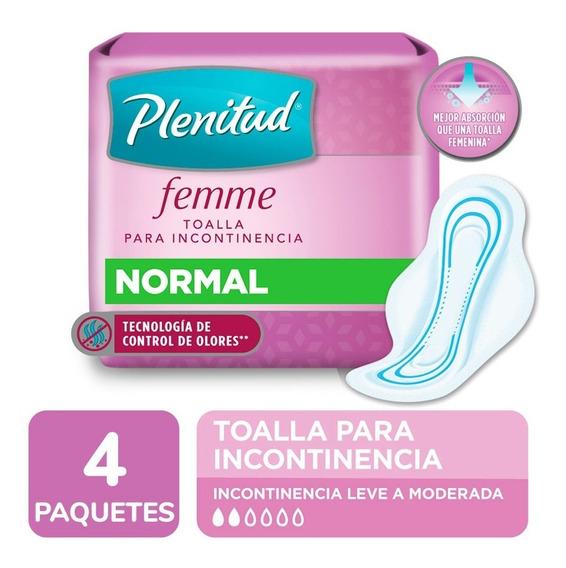 Plenitud Toalla Normal Femme X 16 Unidades Pack X 4