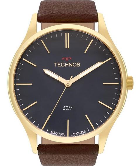 Relógio Technos Couro Masculino Clássico 2035mqr/2a