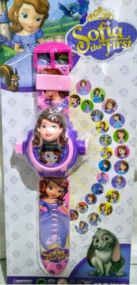 Relógio Princesa Sofia Projeta 24 Imagens Na Parede Oferta