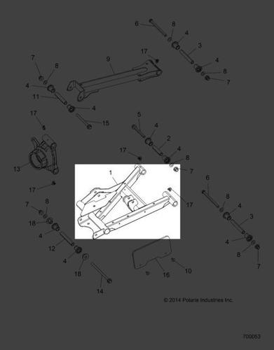 Braço De Suspensão Traseira Ld Polaris Quadri #pn 1021288-38