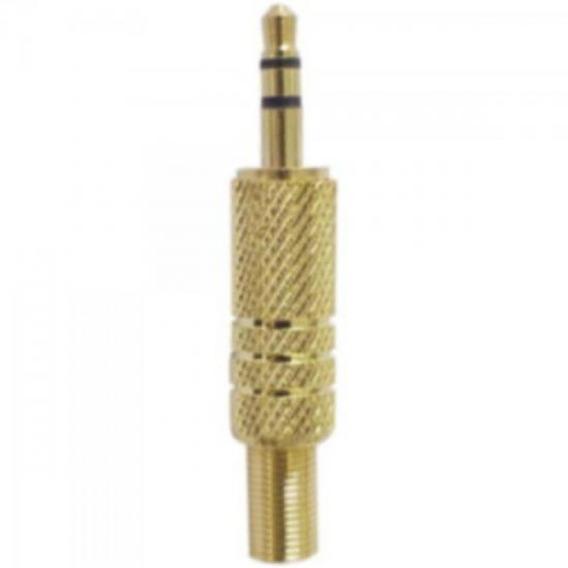 Plug P2 Stereo Com Mola Gold Genérico Com 50 Unidades