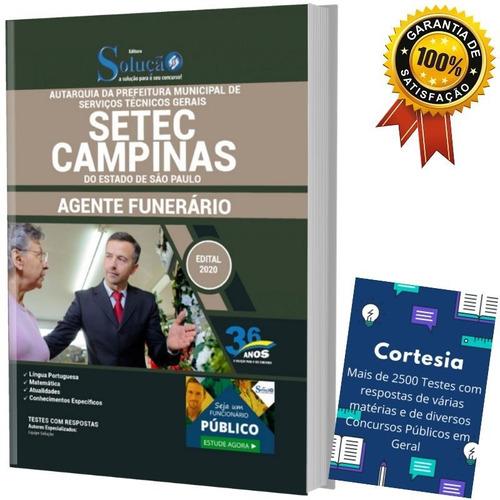 Apostila Concurso Setec Campinas Sp - Agente Funerário