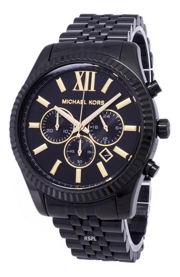 Relógio Michael Kors Mk8603 Lexington Preto Original