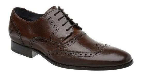 Sapato Oxford Masculino Malbork Em Couro Marrom