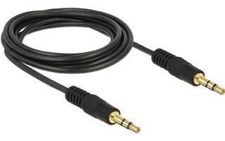 Cable De Audio Estereo Plug 3.5mm A 3.5mm Mallado 1mt