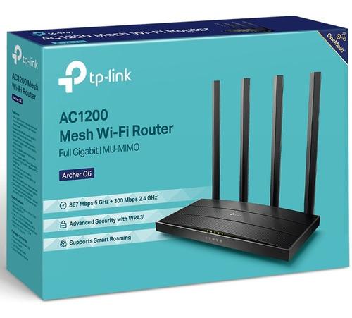 Imagen 1 de 8 de Router Mesh Tp-link Gigabit Wi-fi Dual Band Ac1200 Archer C6
