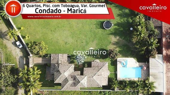 Chácara Com 6 Dormitórios À Venda, 2700 M² Por - Condado De Maricá - Maricá/rj - Ch0066