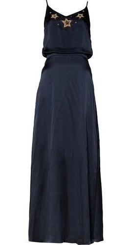Vestido De Fiesta Vero Alfie Azul Marino