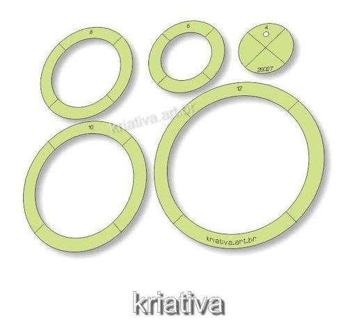 Imagem 1 de 5 de Gabarito Para Patchwork - Circular Par 4-6-8-10-12 Cm -26027