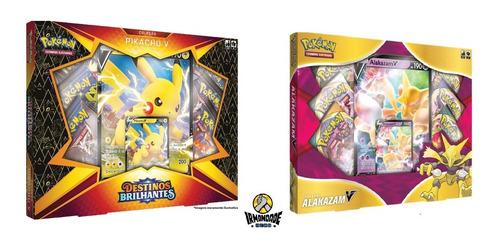 Pokémon - Box Coleção Alakazam V + Pikachu V