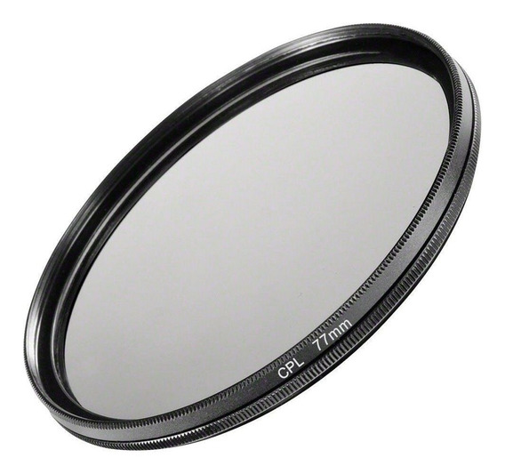 Filtro Cpl Polarizador Polarizante Lentes Dslr Câmeras Fotográficas 77mm Canon, Nikon, Sony, Fuji, Etc. Universal
