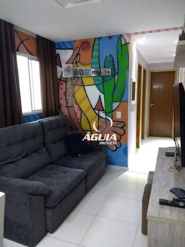 Cobertura Com 2 Dormitórios À Venda, 50 M² Por R$ 350.000,00 - Jardim Santo Antônio - Santo André/sp - Co0770