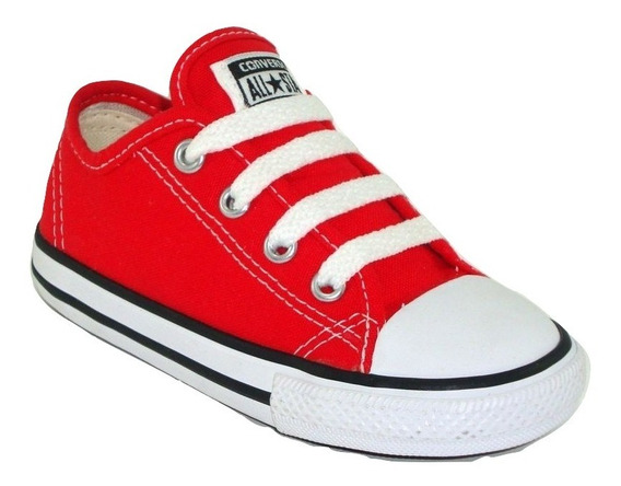 Tênis Converse All Star Kids Ct As Core Ox Vermelho C Nota F