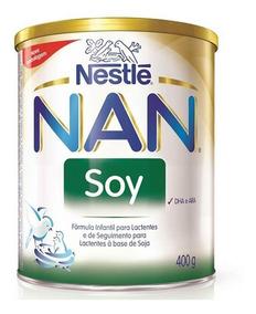 4 Latas Leite Nan Soy Nestlé 800g