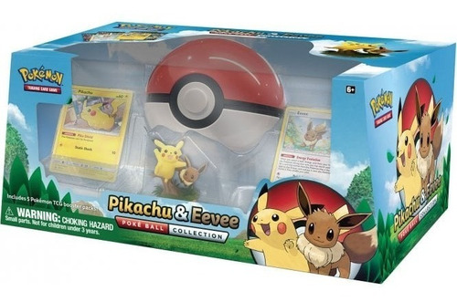 Coleção Pokebola Pikachu E Eevee - Pokémon Tcg