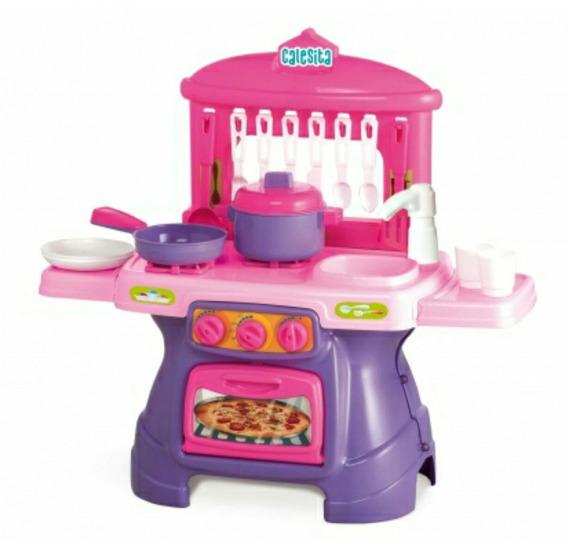 Mini Chef Calesita Com Água Cozinha Infantil Com Acessórios