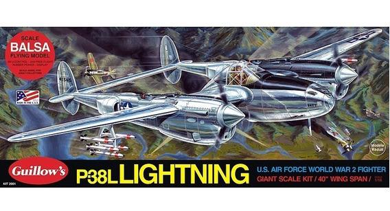 Guillows Kit P/montar P38 Lightning 2001