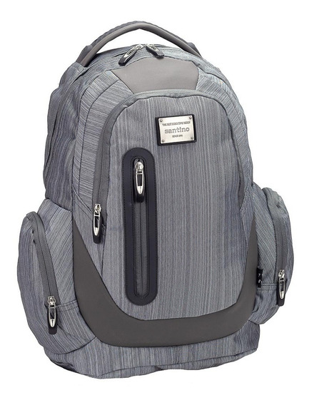 Mochila Costas Notebook Executiva Santino Cinza Sam18209