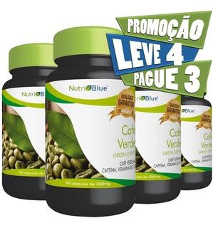 4 Frascos - Café Verde (green Coffee) Em Capsulas Nutriblue