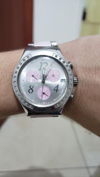 Relógio Swatch Irony Rosa Original