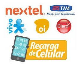 Recarga Online Celular Toda Operadoras 20 Reals Crédito