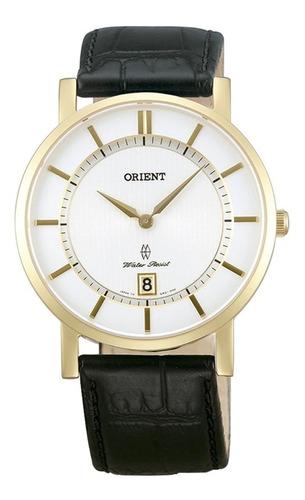 Reloj Orient Cuero Plano Caballero Fgw01002w0 100% Original