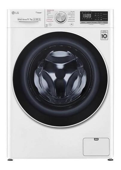 Lavadora e secadora de roupas automática LG CV5011 branca 11kg 220V