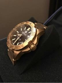 Relógio Mergulho Deep Blue Bronze Diver Daynight Automático
