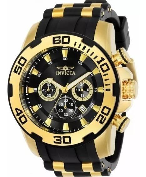 Relógios Masculinos Invicta Pro Diver 22340 Ouro 18koriginal