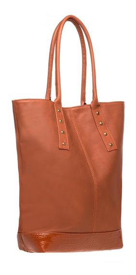 Tote Bag Cuero Marrón - Bolsos Carteras Mochilas Cuero Mujer