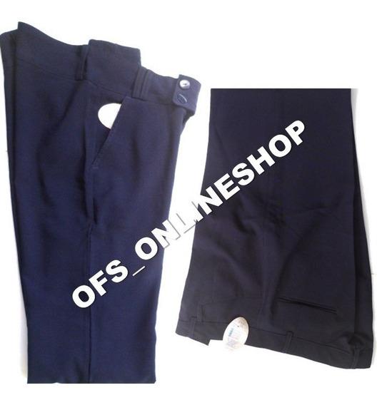 Pantalon Escolar Azul Strech Dama Talla Xl - 8 Dls