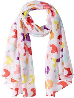Fluffy Layers Fashion Scarves Caballos Y Pollo Prints