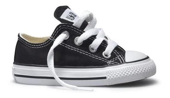 Tenis Converse-choclo Negro-bebé- 7j235
