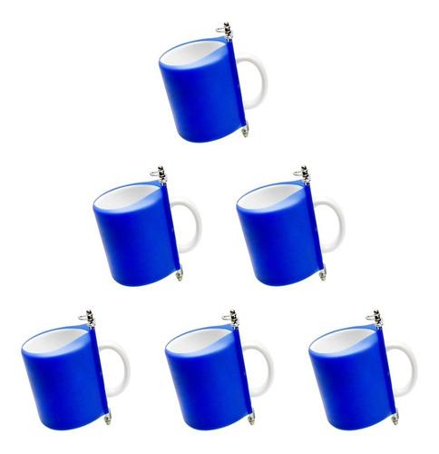 Imagem 1 de 4 de Kit Com 6 Manta Azul Para Caneca Prensa 3d Forno Elétrico