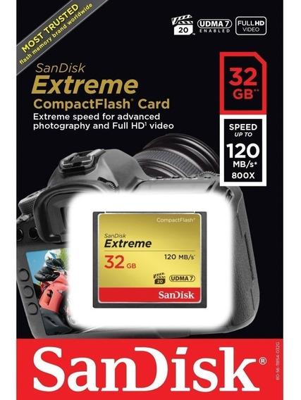 Cartão De Memória De 32 Gb Sandisk Compact Flash Extreme C10