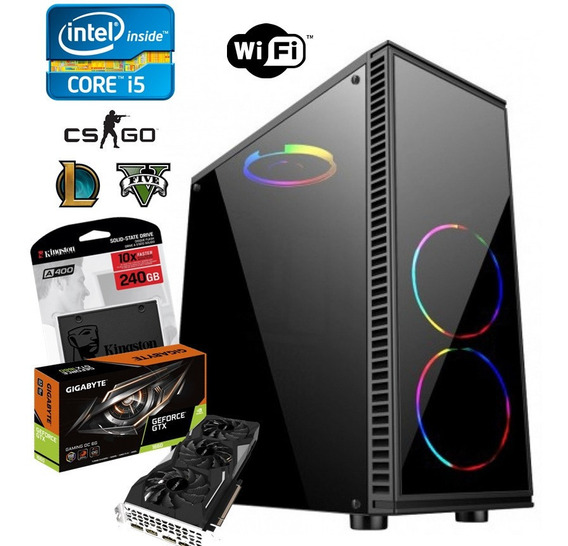 Pc Gamer Asus Core I5 9400 + 16gb Ram + Ssd240 + Gtx1660 4gb