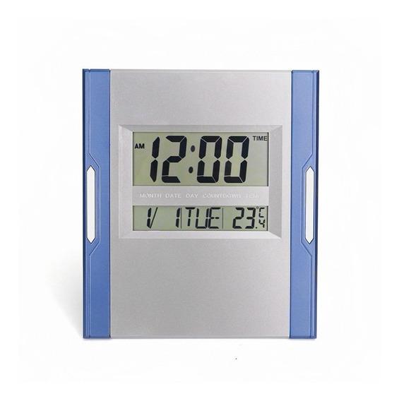 Relógio De Mesa Ou Parede Digital C/ Termômetro Alarme 3886n