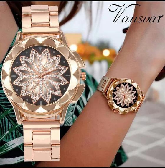 Relógio Femenino De Luxo - Vansvar