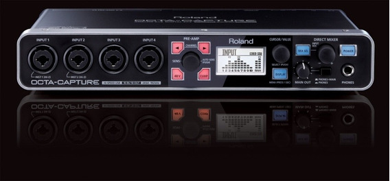 Interface Gravação Roland Octa Capture Usb 10 Canais