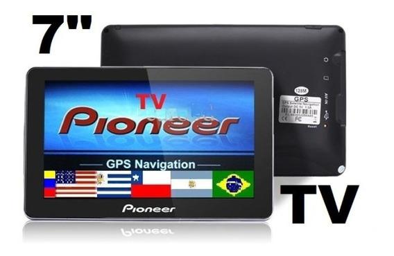 Gps 7 Tv Digital Hd + Igo + Mapas Sudamerica Eeuu 4gb Video