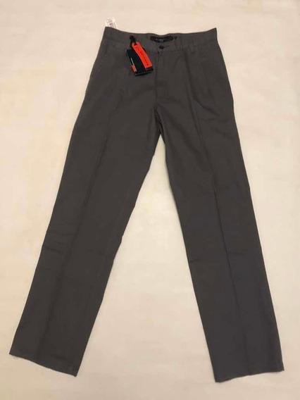 Pantalon Pinzado Kevingston Talle 38 Classic Line Gris Oscur